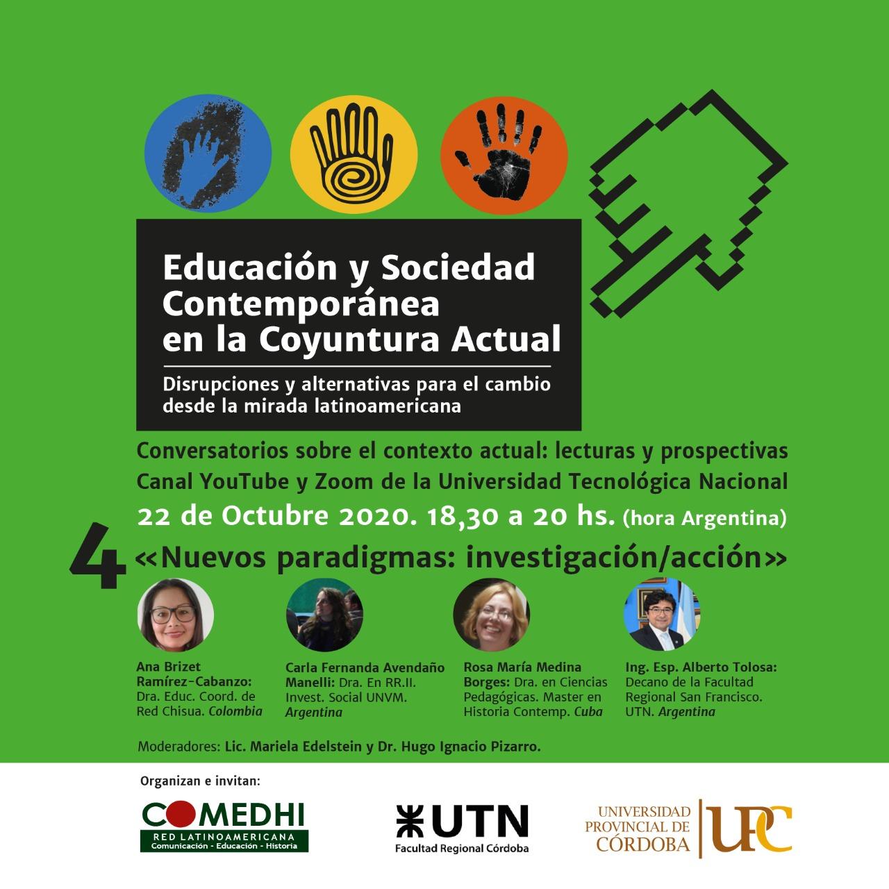 Conversatorio: «Nuevos Paradigmas: Investigación/Acción»