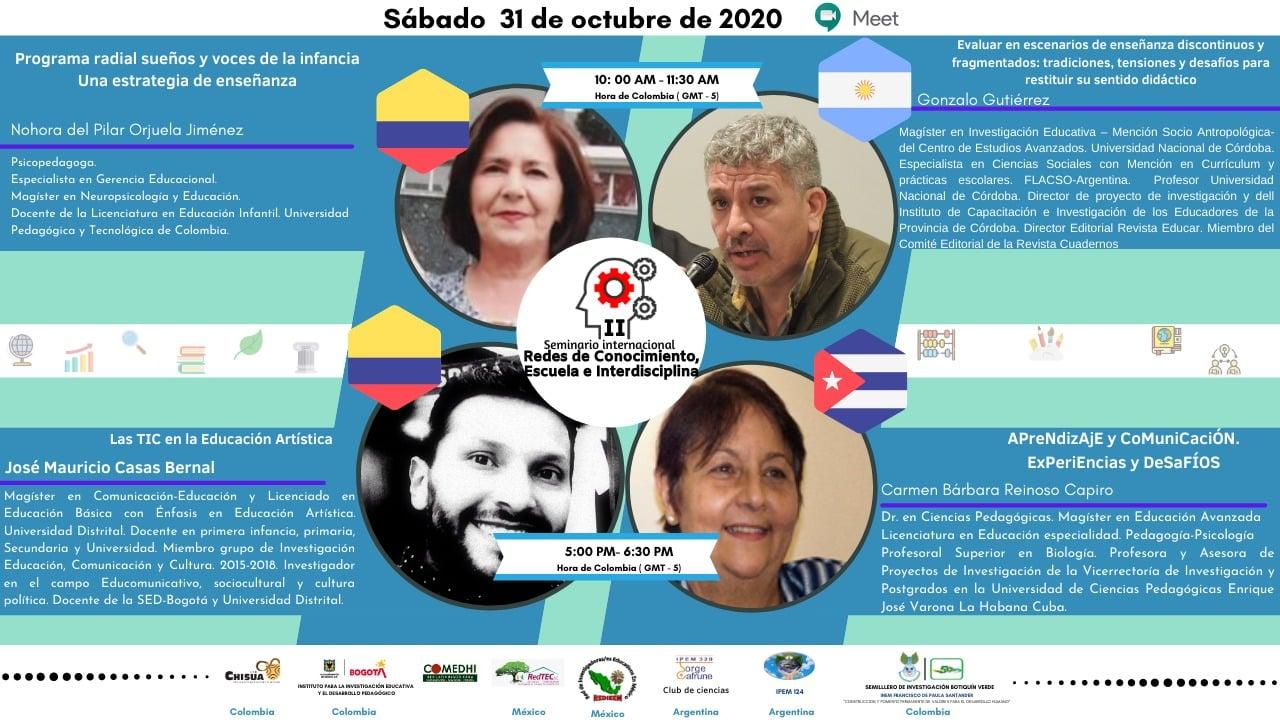 """II Seminario Internacional """"Redes de Conocimiento, Escuela e Interdisciplina"""""""