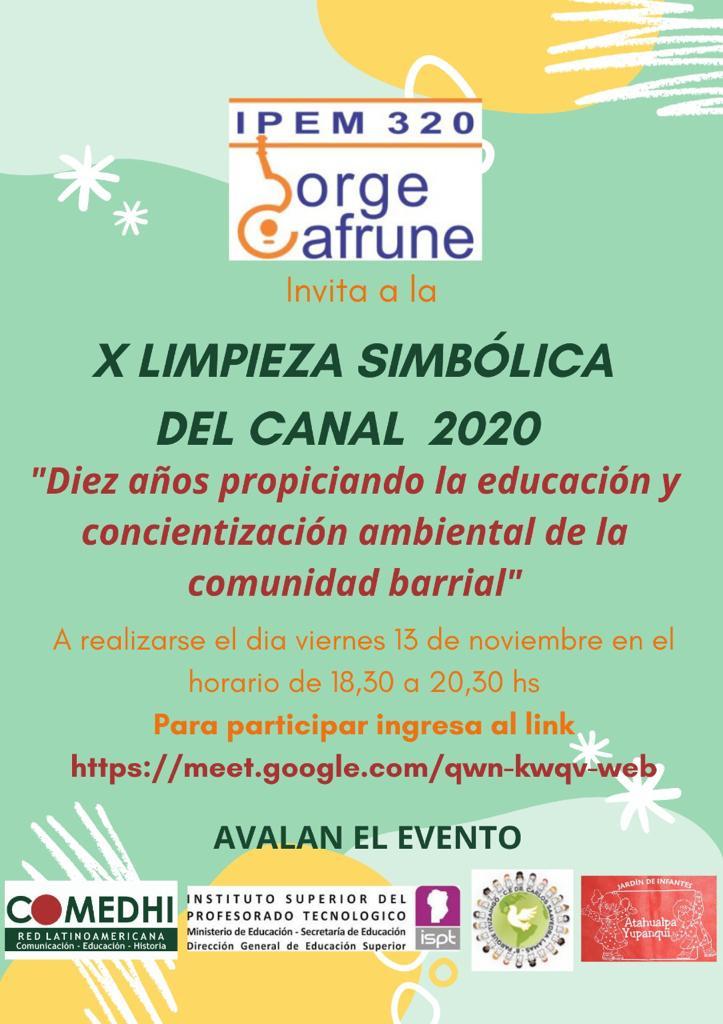 Limpieza simbólica del Canal de B° Parque Ituzaingó y Ciudad de Mis Sueños.